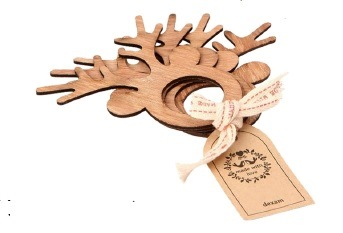 Winter Garden Set of 4 Wooden Napkin Rings – Now Only £3.00