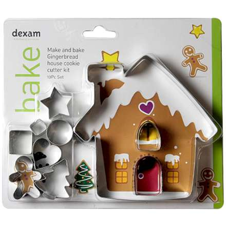 Make & Bake Gingerbread House Cookie Cutter Kit Set of 10 – Now Only £5.00