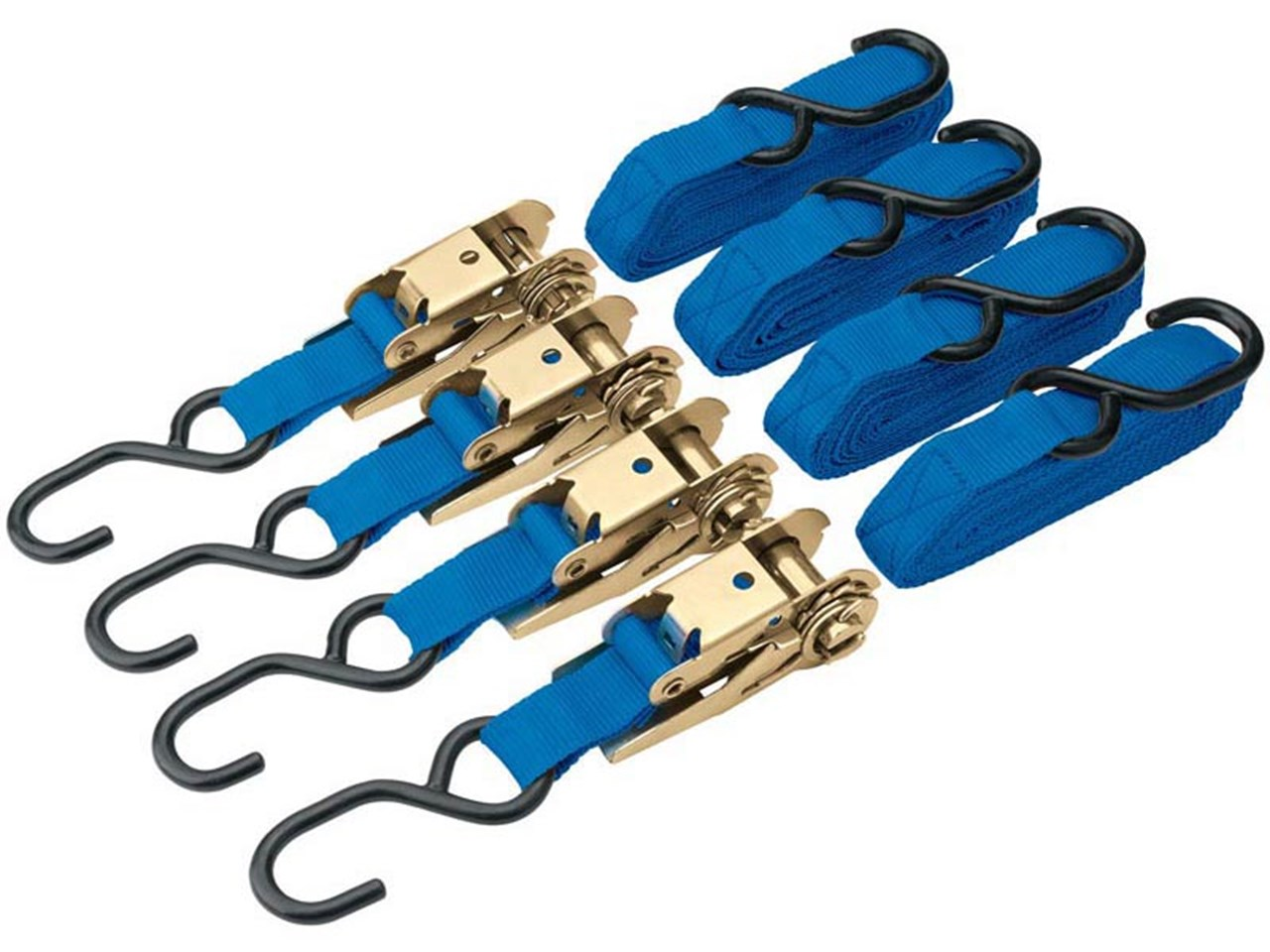 375kg Ratcheting Tie Down Strap Set (4 Piece) – Now Only £12.00