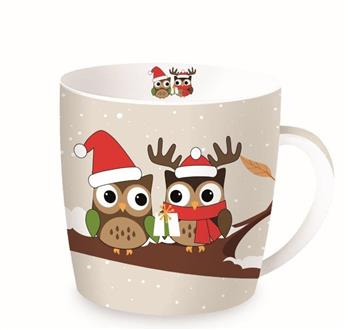 Christmas Branch Owls Porcelain Mug in a Tin – Now Only £7.00