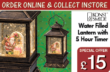 Water Filled Lantern with Warm White LED and 5 Hour Timer – Now Only £15.00