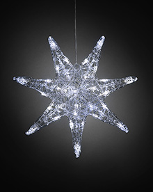 Acrylic Star 7 tips 32 Leds -  – Now Only £15.00