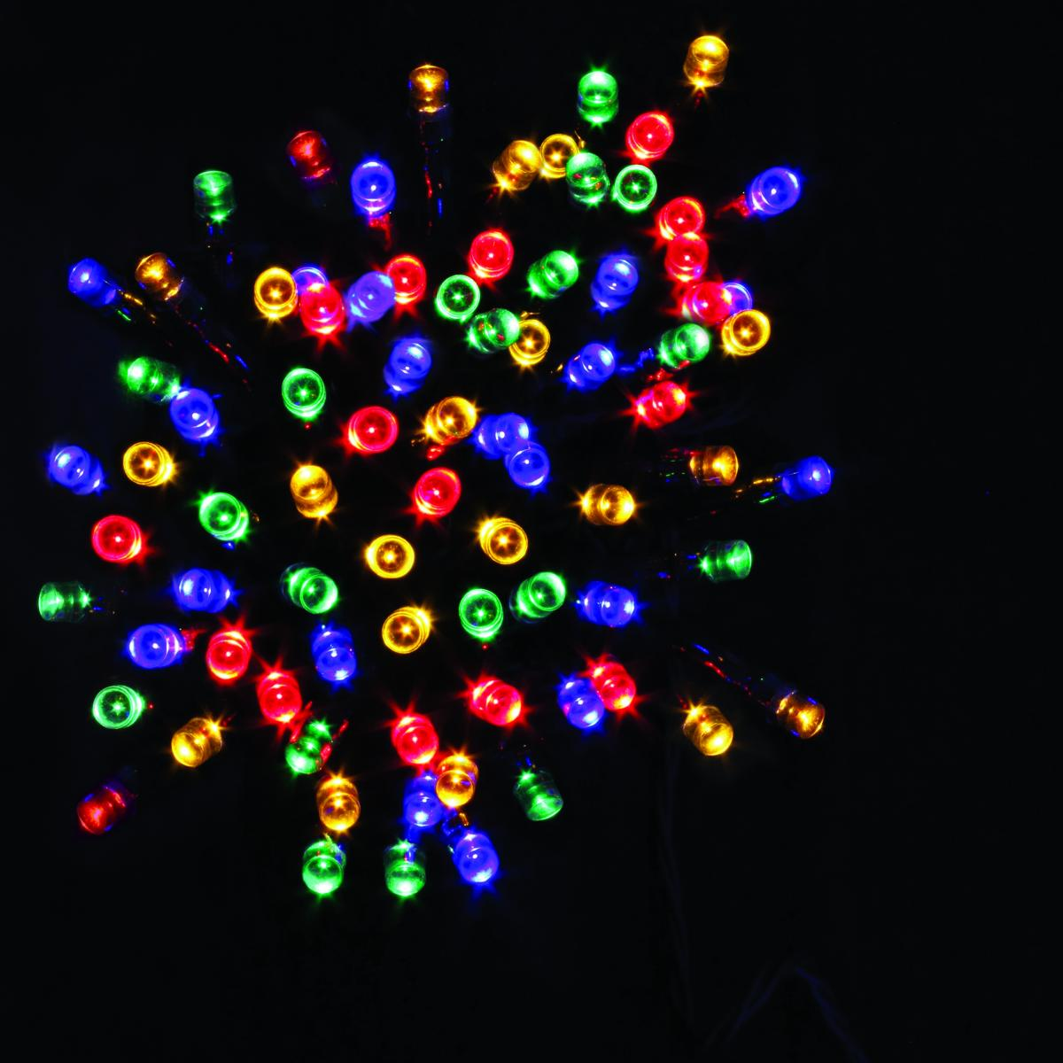 100 LED Battery Operated Timer Lights  - Multicolour – Now Only £6.00