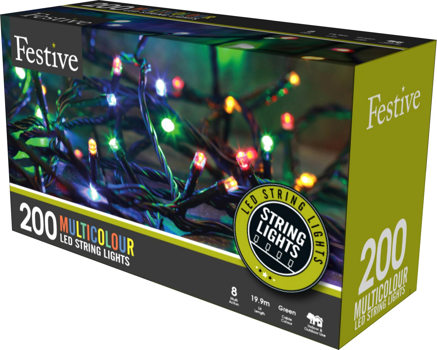 200lv LED lights with 8 multifunction controller with timer - Multicolour – Now Only £14.00