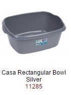 Casa 38cm Rectangular Bowl  - Silver – Now Only £2.00