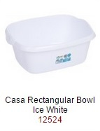 Casa 38cm Rectangular Bowl  - Ice White – Now Only £2.00