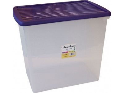 Wham®Box 90L Box & Lid (8.03) - Clear and violet – Now Only £12.00