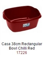 Casa 38cm Rectangular Bowl  - Chiili Red – Now Only £2.00