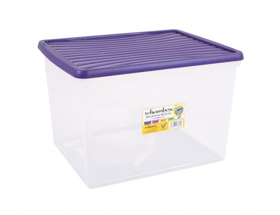 Wham®Box 50L Box & Lid (7.03) - Clear and violet – Now Only £7.00