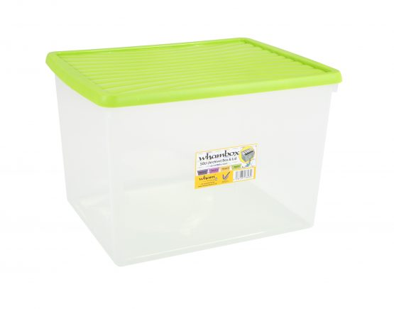 Wham®Box 50L Box & Lid (7.03) - Clear and Lime – Now Only £7.00