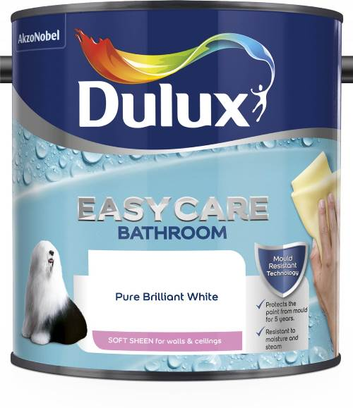 Easycare Bathroom+ Soft Sheen 2.5L Pure Brilliant White – Now Only £18.00