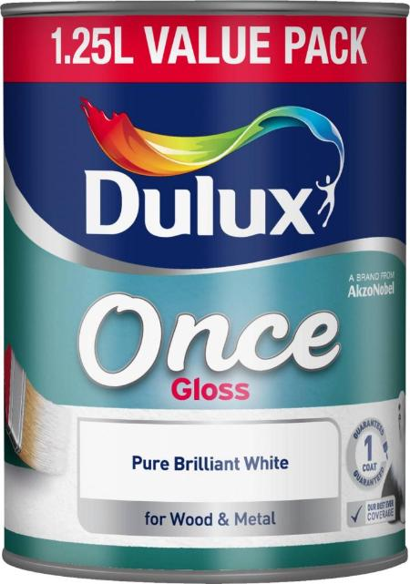 Once Gloss Pure Brilliant White 1.25L – Now Only £11.00