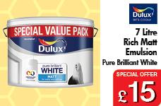 7 Litre Rich Matt Emultion Pure Brilliant White Special Value Pack – Now Only £15.00