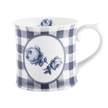 Vintage Indigo Gingham Floral Tankard Mug – Now Only £5.00