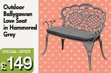 Ballygowan Love Seat - Hammered Grey – Now Only £149.00