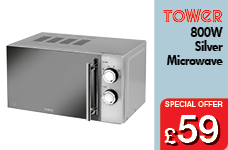 800W Microwave with Mirror Door - Silver – Now Only £59.00