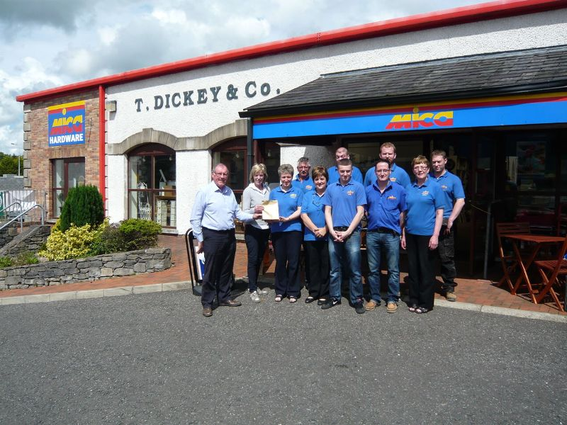 The T Dickey & Co Mica Hardware staff