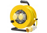 110V Twin Extension Cable Reel, 25m