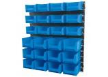 24 Bin Wall Storage Unit, Small/Medium Bins