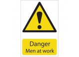 'Danger Men At Work' Hazard Sign