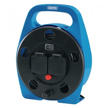 2 Way Cable Reel with LED Worklight, 10m