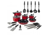 6 Piece Pan Set Red