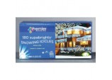 Snowing Icicles 180 LED - Blue & White
