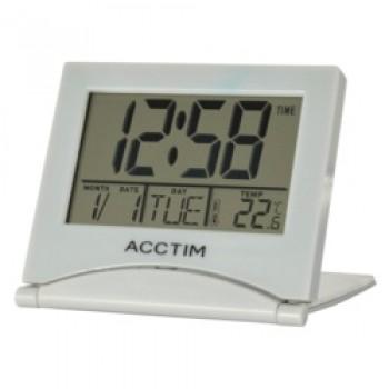 Mini Flip II Travel LCD Alarm Clock - Grey
