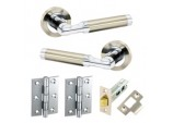 Artisan Latch Pack With Hinges - SN/CP