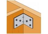 Light Reinforced Angle Bracket - 70 x 50 x 60