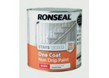 Stays White One Coat Non Drip Paint - White Gloss 2.5L
