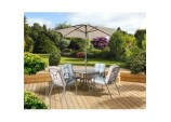 Roma Dining Set With Parasol - 4 Seat