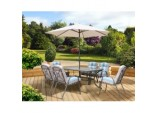Roma Dining Set With Parasol - 6 Seat