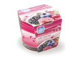 Patterned Glass Scented Candle - Wild Berries
