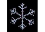 1.5m Starburst Snowflake - White/Multi Coloured