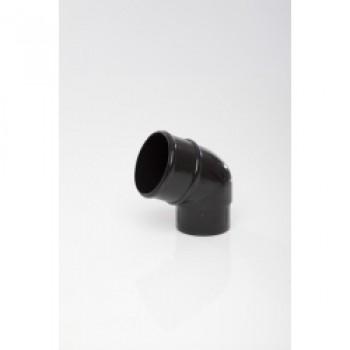 112 1/2 Degrees Offset Bend - 68mm Black