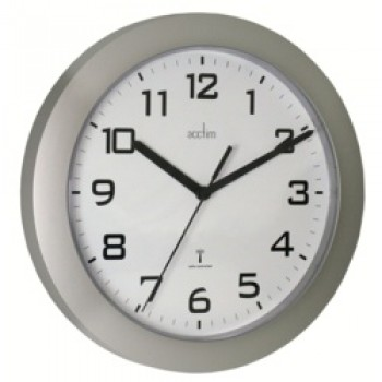 Peron Wall Clock Silver - Silver