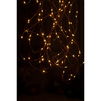 25 Battery operated Dewdrop Lights - Amber LED