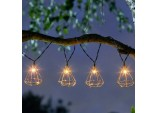 Geo LED Solar String Lights - Pack of 10