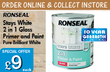 Stay White 2in1 Primer and Paint 750ml White  -  – Now Only £9.00