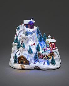 Mechanical Christmas Decoration Ski Mountain Decor – Now Only £39.00