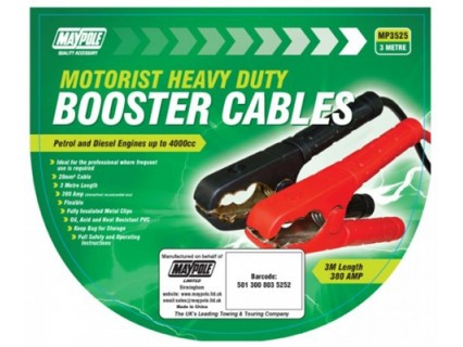 Heavy Duty Booster Cables - 20mm x 3m – Now Only £15.00