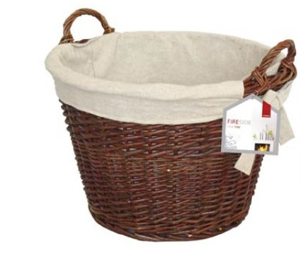 Round Wicker Basket with Jute Liner – Now Only £25.00