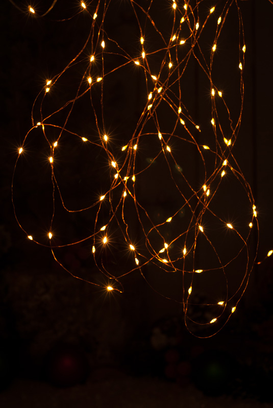 25 Battery operated Dewdrop Lights - Amber LED – Now Only £2.50