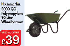 5000 GO Green Polypropylene 90L Pneumatic Barrow -  – Now Only £39.00