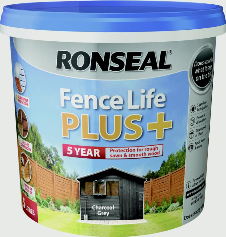 Fence Life Plus 5L  - Charcoal Grey – Now Only £9.00