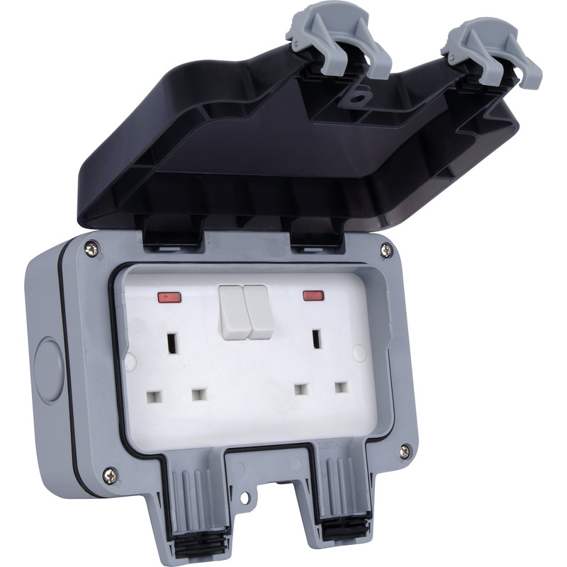 13A 2 Way Outdoor Mains Socket – Now Only £14.00
