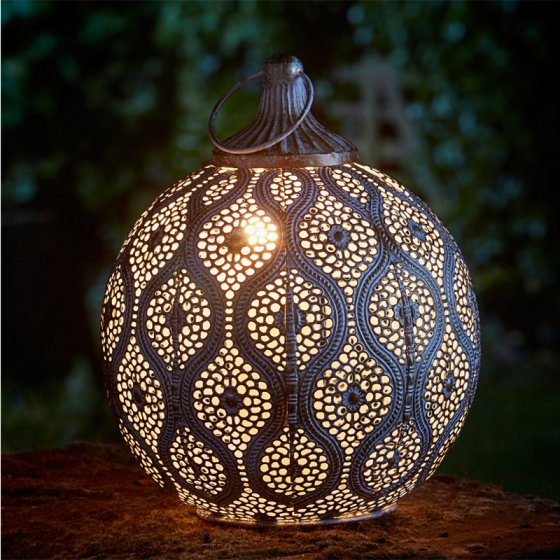 Cairo Lantern - Brushed Gold Antique Finish – Now Only £12.00