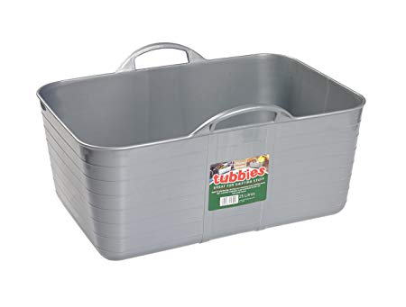 25L Rectangular Tubbie - Silver – Now Only £5.00
