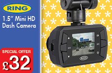 "1.5"" Mini HD Dash Camera  – Now Only £32.00"